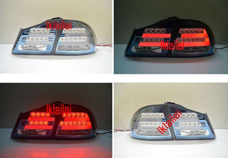 Honda Civic FD '06 LED Light Bar Tail Lamp [Hybrid] [BMW F10 Style]