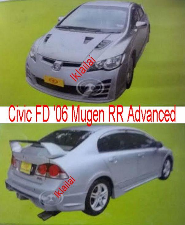 Honda Civic FD '06 Mugen RR Advanced Style Body Kit