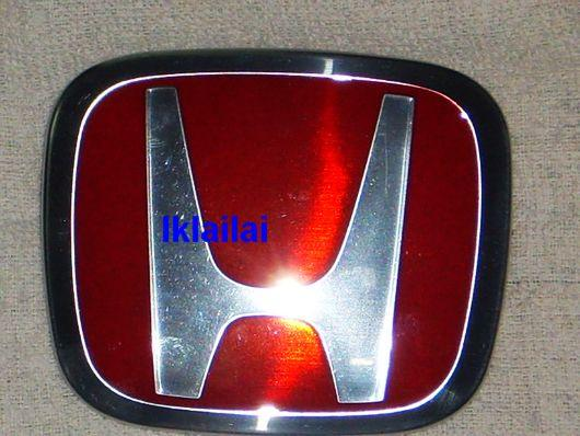 Honda Civic FD '06 Rear Bonnet Emblem Red Logo