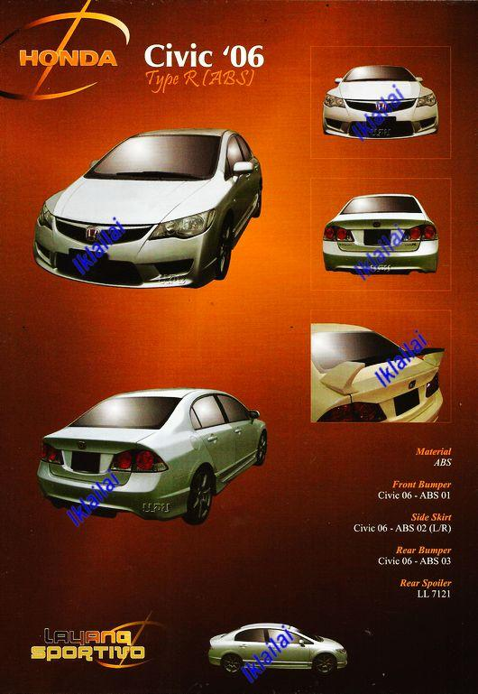 Honda Civic FD '06 Type-R Full Set Body Kit [PP & ABS Material]