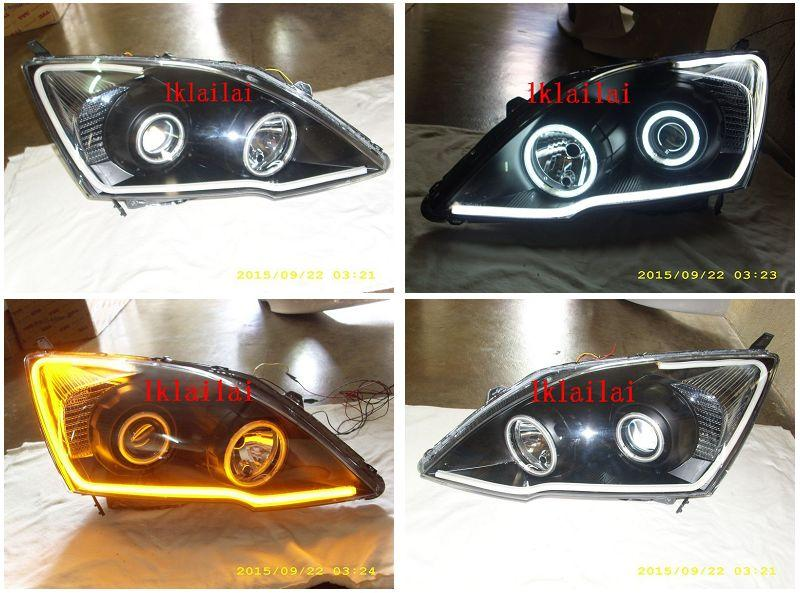 HONDA CRV '07 Projector Head Lamp 2-Function DRL 1-pair with Motor