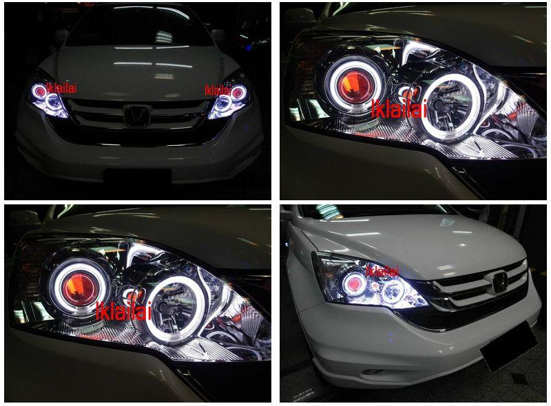 Honda CRV '07 Projector Head Lamp Colour CCFL Ring+Angel Eye