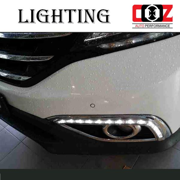 HONDA CRV 13-15 Fog Lamp Cover With LED Daylight DRL Signal + Auto On