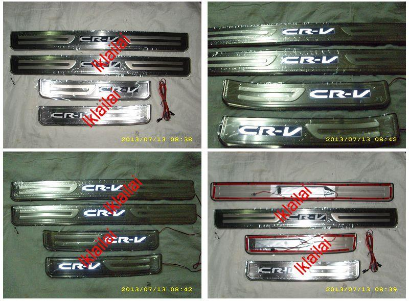 Honda CRV '13 Door / Side Sill Plate With LED Light [4pcs/set]