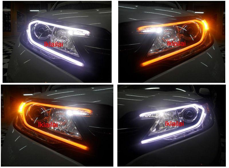 HONDA CRV 13 Head Lamp  2-Function Eye Brown DRL [NO Head Lamp]