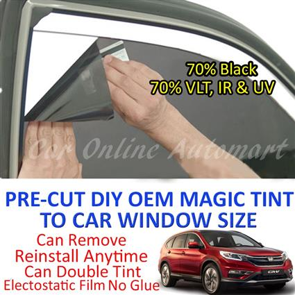 Honda CRV 2002 - Present Magic Tinted Solar Window ( 6 Windows ) 70% B