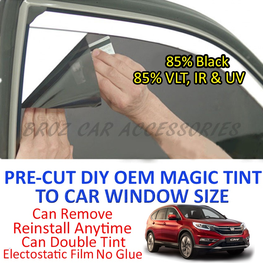 Honda CRV 2002-Present Magic Tinted Solar Window (6 Windows) 85% Black