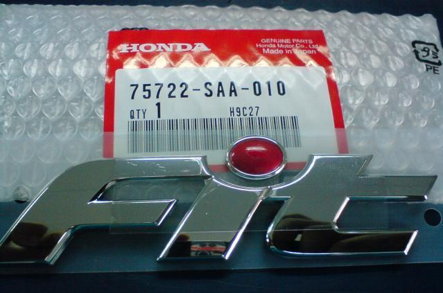Honda Fit / Jazz Brand New Rear Emblem Original