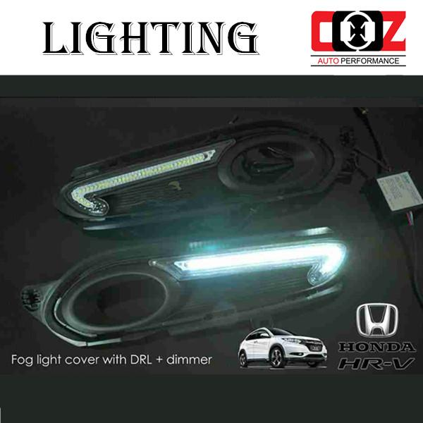 Honda HR-V 2015 Fog Lamp Cover With LED Daylight DRL + Auto On