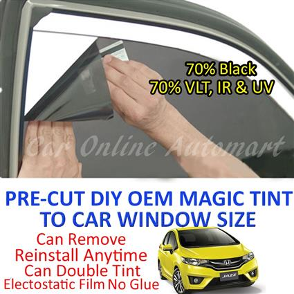 Honda Jazz 2008 - 2013 Magic Tinted Solar Window ( 4 Windows ) 70% Bla