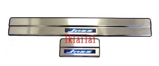 HONDA JAZZ/FIT  '09 Door / Side Sill Plate With LED Light [4pcsset]