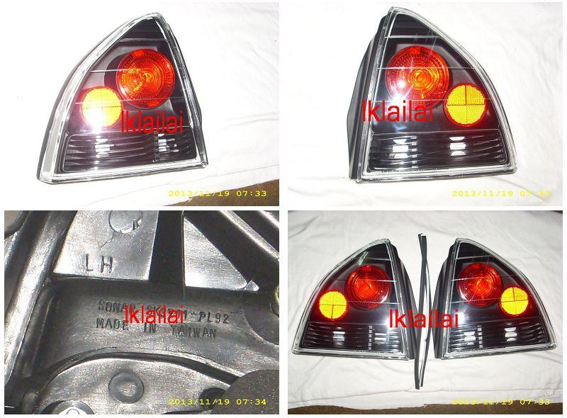 HONDA PRELUDE 2D '92 - '96 BLACK Tail Lamp