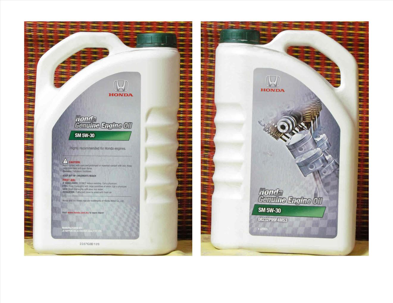 Honda Semi Synthetic Engine Oil 4 Liters (5W-30)