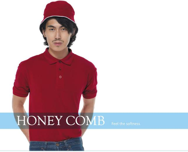 Honey Comb Micro fibre T Shirt Polo Shirt