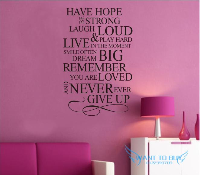 Have hope wall sticker quotes and s end 7 21 2018 1 15 am for Phrases murales