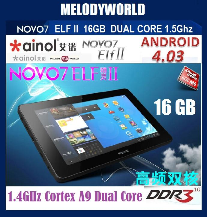** HOT** 16GB + 1GB RAM** NOVO 7 ELF 2 DUAL CORE