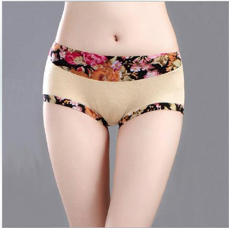 Hot Bamboo Fibre Floral Ice Silk Women Underwear