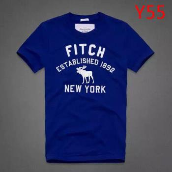 Hot A&F NY Hollister Summer Men T-shirt Blue Selection