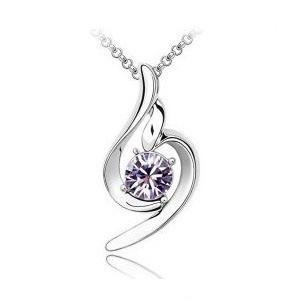 Hot~Lucky Angel Crystal Necklace