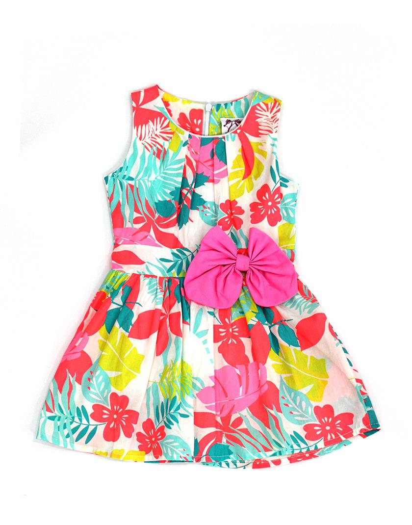 Hot Pink Ribbon Aloha Flora Dress