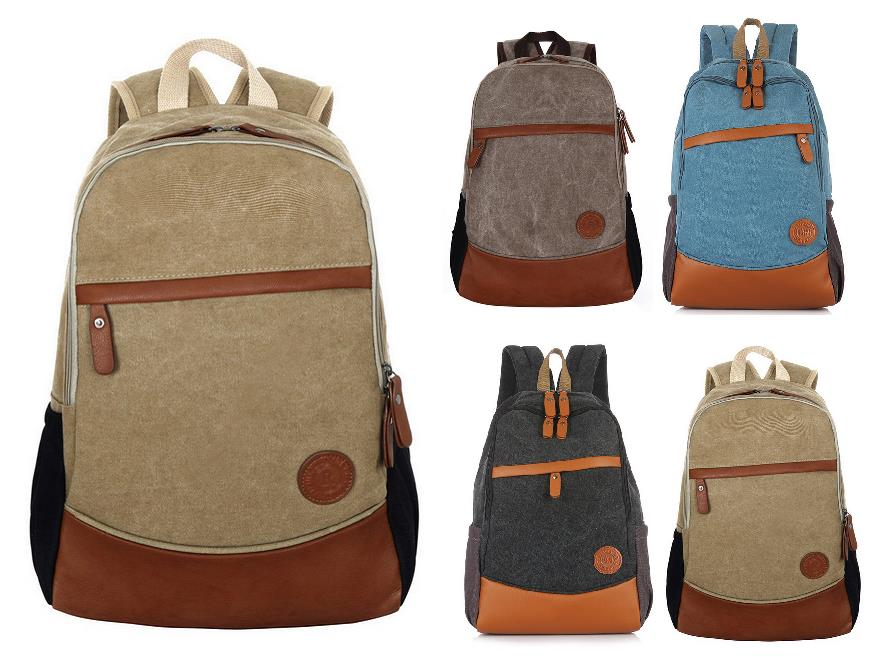 Hot Sale Casual Style Canvas Backpack Travel Laptop School Backpack