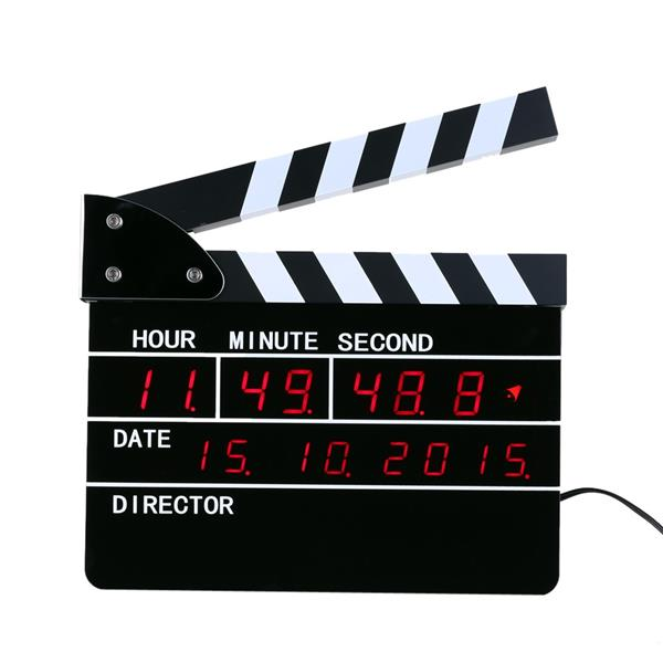 New Hot Sale Film Action Table Clock Director's Film Movie Clapper