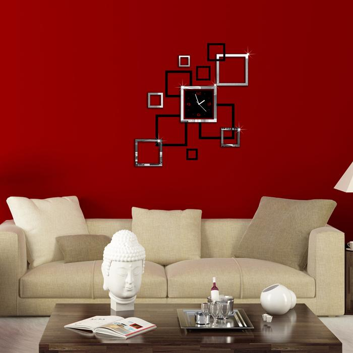 Hot sale modern design 3d diy wall cl end 6 7 2017 4 14 pm for Living room mirrors for sale