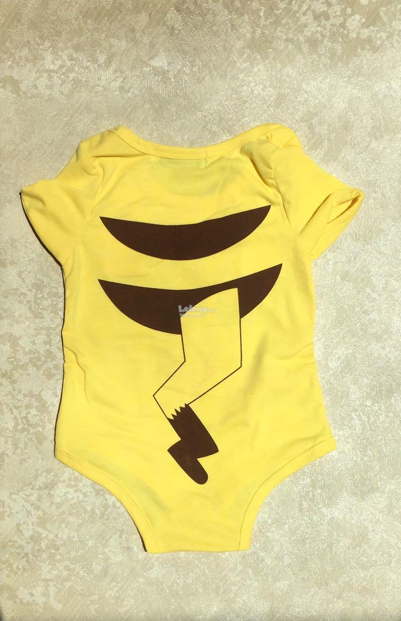 Hot selling! 2016 Pokemon Pikachu baby romper short sleeve