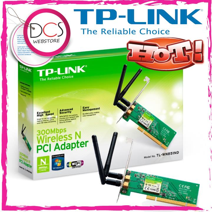 [HOT] TP-Link TL-WN851ND 300Mbps Wireless N PCI Adapter