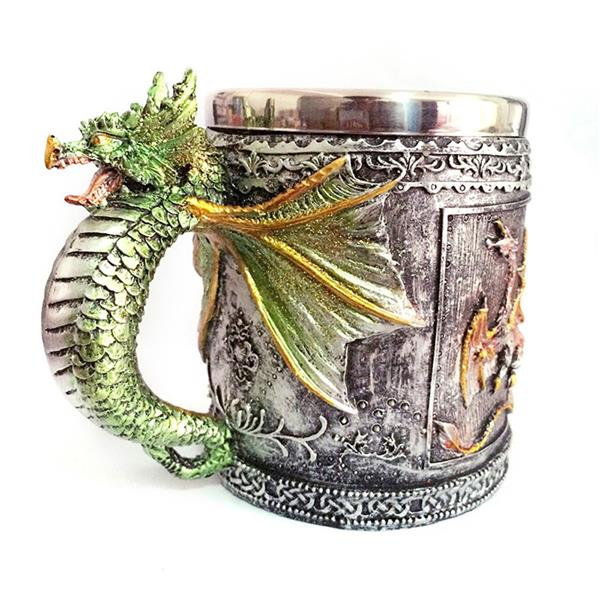Hot Unique High Quality Stainless Steel Royal Dragon Mug