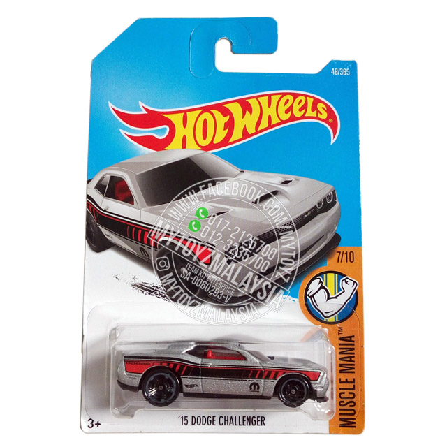 Hot Wheels 2017 Muscle Mania '15 Dodge Challenger [Silver]