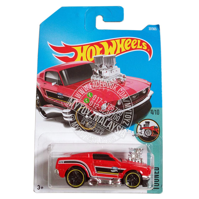 Hot Wheels 2017 Tooned '68 Mustang [Red]