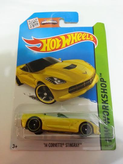 Hot Wheels Diecast - '14 Corvette Stingray (Yellow) NEW