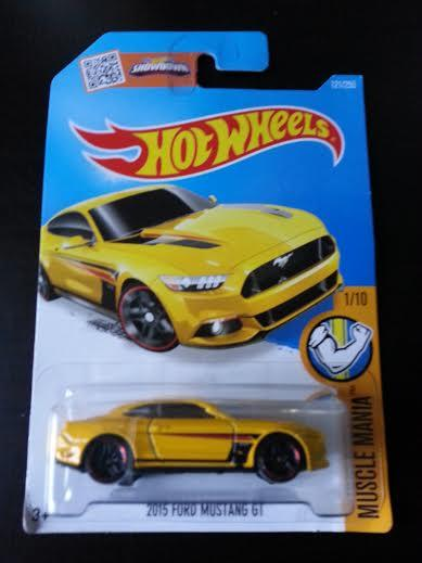 Hot Wheels Diecast - 2015 Ford Mustang GT Yellow NEW
