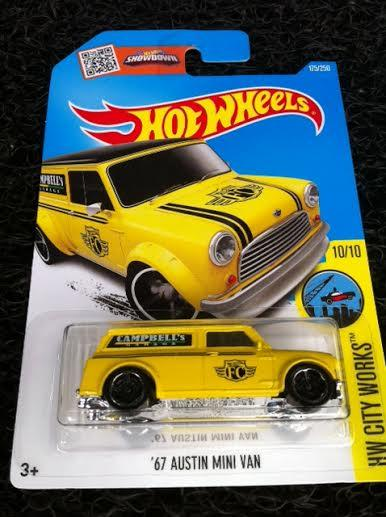 Hot Wheels Diecast - '67 Austin Mini Van (Yellow) NEW