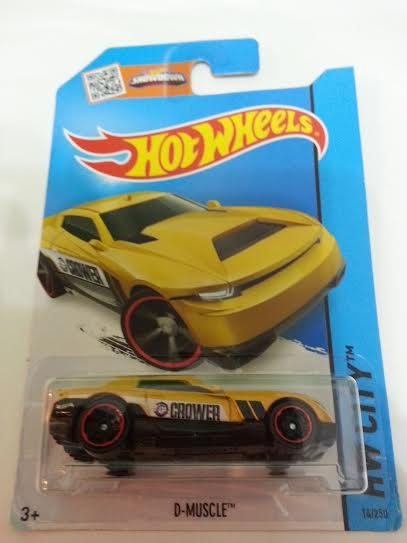 Hot Wheels Diecast -  Crowner D-Muscle (Yellow) NEW