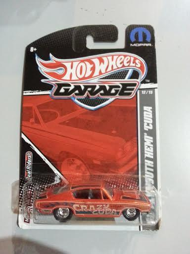 Hot Wheels Garage Series - '68 Plymouth Hemi Cuda  NEW