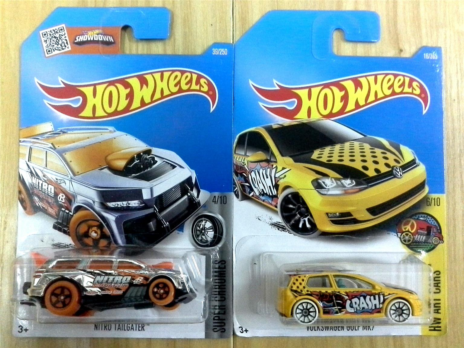 Hot Wheels NITRO TAILGATER &  VOLKSWAGEN GOLF MR7 LOT