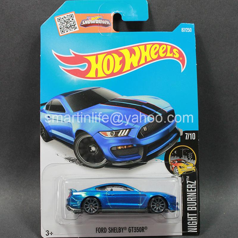 Hot Wheels Shelby GT350R (Blue) #7/10