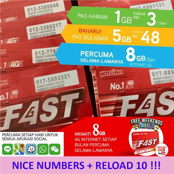 HOTLINK FAST  (NICE NUMBERS) with RELOAD10