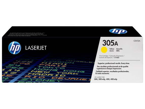 HP 305A Yellow Original LaserJet Toner Cartridge (CE412A)