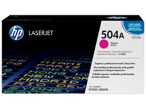 HP 504A Magenta Original LaserJet Toner Cartridge(CE253A)