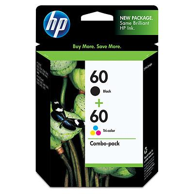 HP 60 COMBO VALUE PACK INK CARTRIDGE, CN067AA