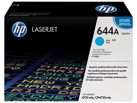 HP 644A Cyan Original LaserJet Toner Cartridge (Q6461A)
