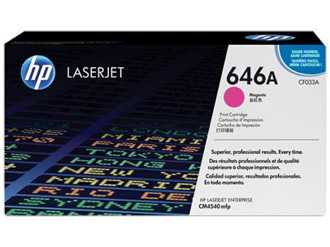 HP 646A Magenta Original LaserJet Toner Cartridge (CF033A)