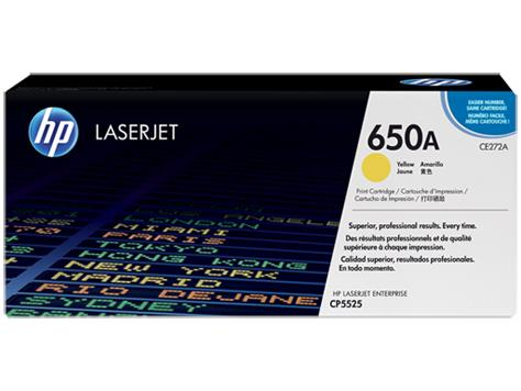 HP 650A Yellow Original LaserJet Toner Cartridge (CE272A)