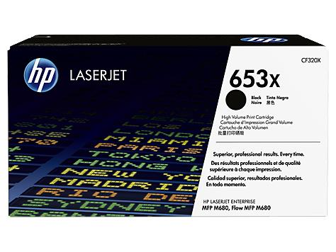 HP 653X High Yield Black Original LaserJet Toner Cartridge (CF320X)