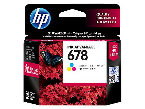 HP 678 TRI-COLOR INK CARTRIDGE