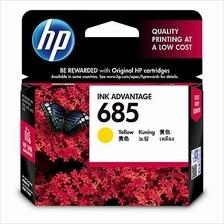Hp 685 Yellow Ink Cartridge (CZ124AA) 4615 4625 5525 6525 124