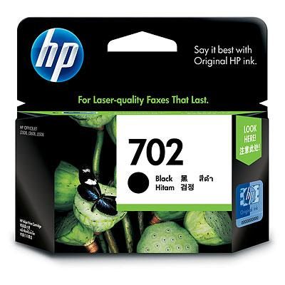 HP 702 Black Cartridge - 600* pages